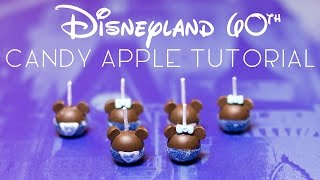 Disneyland 60th Anniversary Candy Apples // Miniature Polymer Clay Tutorial