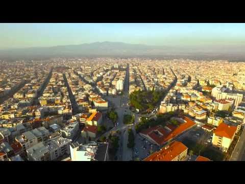 Manisa Turgutlu ( Kasaba ) 2016.  STUDYO SITKI 1940. 4k havadan görüntüleme