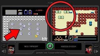 Zelda (Sega Master System vs NES) Side by Side Comparison (The Legend of Zelda) NES vs SMS