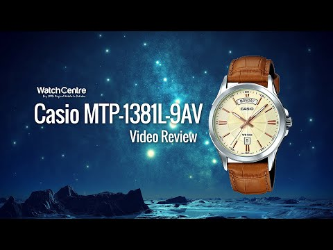 MTP-1381L-9AV Casio Classic Golden Dial Camel Strap Men's Gift Watch