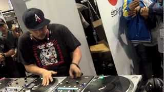 NAMM 2013 - Mixmaster Mike at the STOKYO booth.