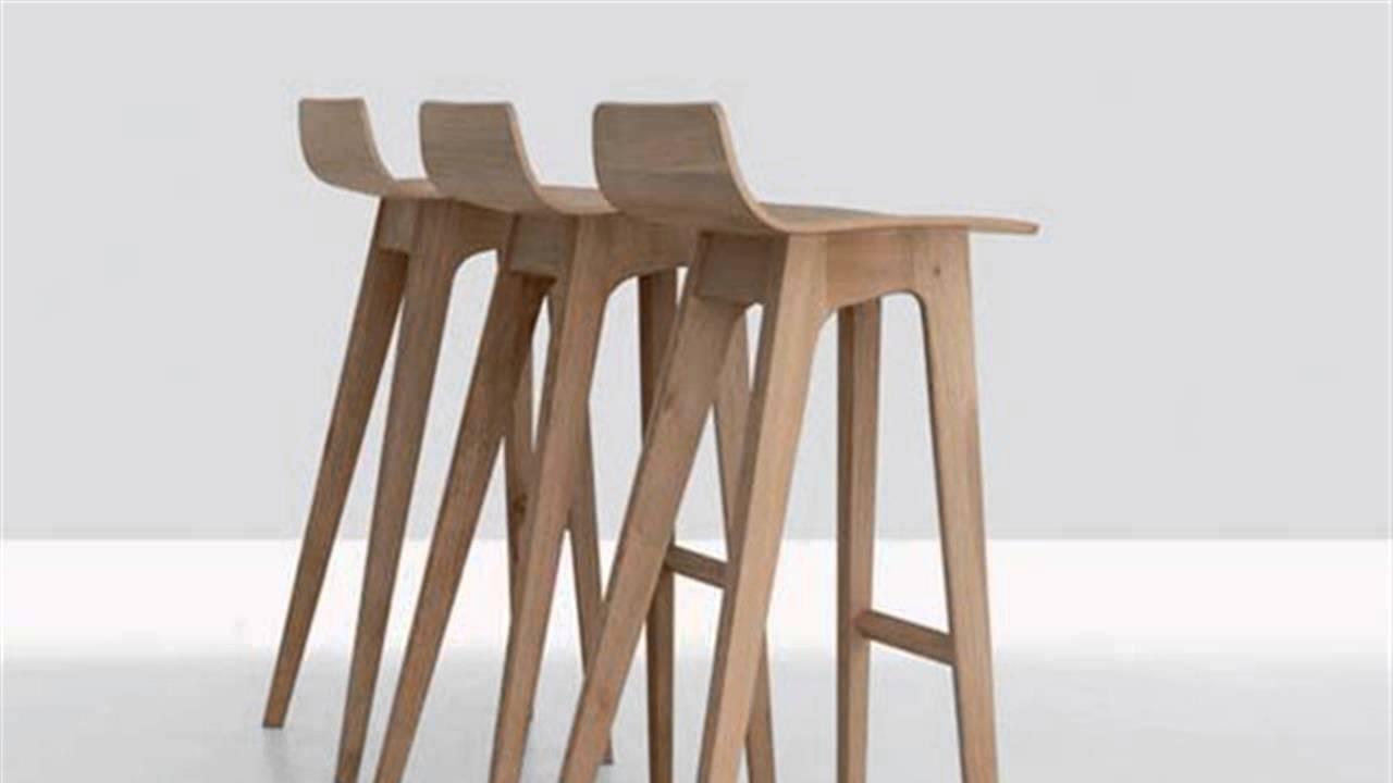 DIY Wood Modern Bar Stools