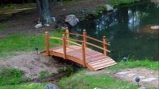 Handcrafted Redwood Garden Bridge 559-325-2597