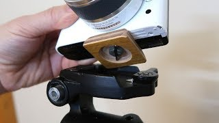 Making a camera quick release plate for a tripod