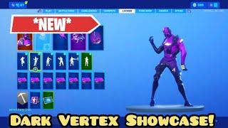 *NEW* Fortnite Dark Vertex Skin Showcase! (+ How to Get Dark Vertex!)