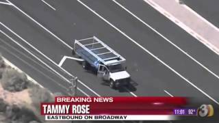 Arizona Police Chase - Flatbed Truck Rams police Cruisers [NEW 2013] 9/20/2013 thumbnail