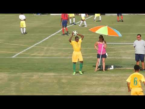 BVIFA U15;s defeated 6-0 by French Guyana, CONCACAF Championship, 2017