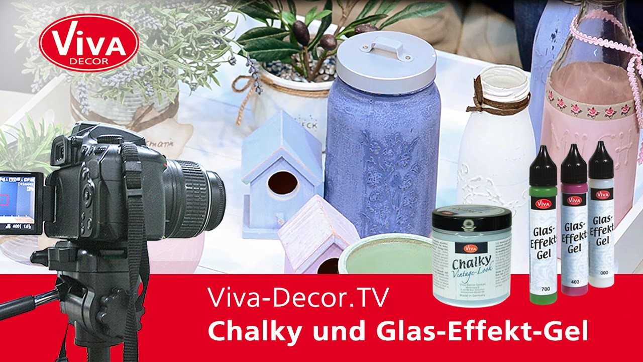 shabby chic in der k che mit chalky und glas effekt gel youtube. Black Bedroom Furniture Sets. Home Design Ideas