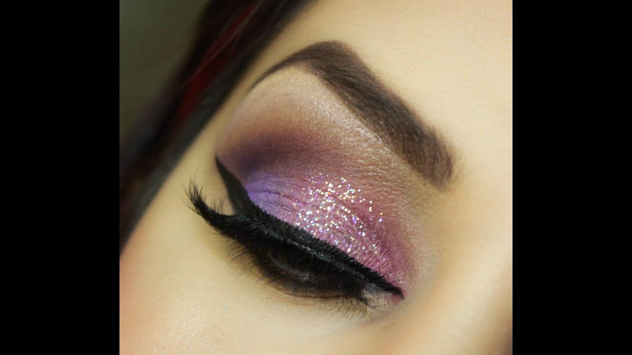 Soft Pink Glitter Makeup Tutorial - YouTube