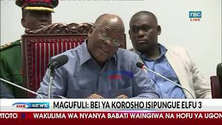 Rais Magufuli ataka korosho isishuke elfu 3 kwa kilo