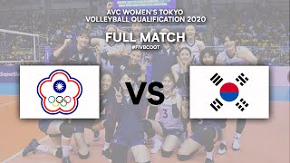 LIVE Korea v Chinese Taipei - Semi Finals 1 | AVC Women's Tokyo Volleyball Qualification 2020