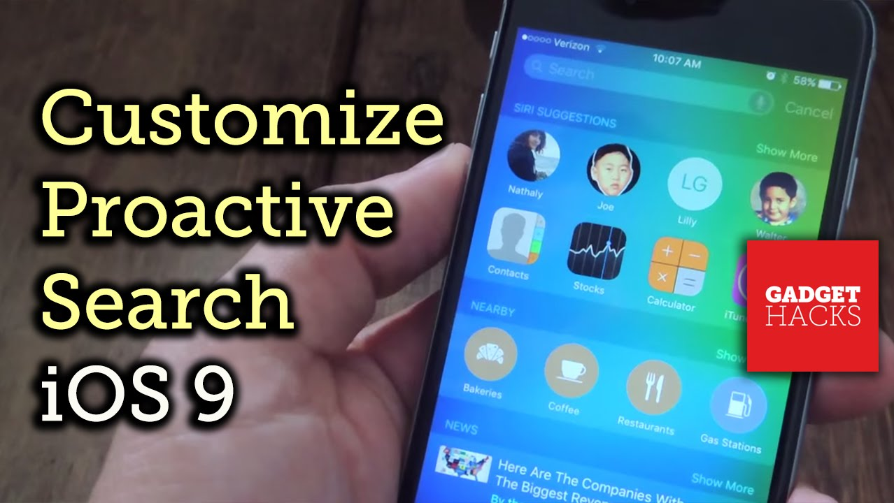How To Disable Proactive Search On Your Iphone Or Ipad In Ios 9 « Ios &