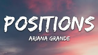 Ariana Grande - positions (Lyrics) Resimi