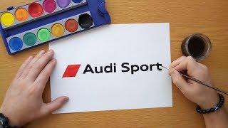 How to draw Audi Sport logo