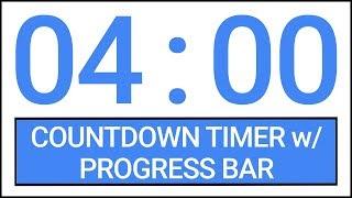 4 min Countdown Timer w/ Progress Bar #Timer #Countdown