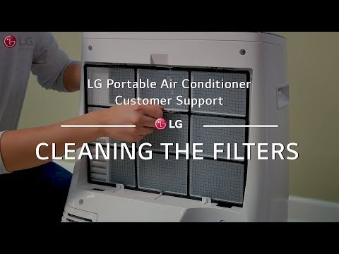 LG Portable AC - Cleaning the Filters