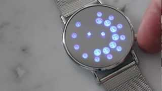 Unique Blue LED Futuristic Watch for Men or Women from Gogadgety.com