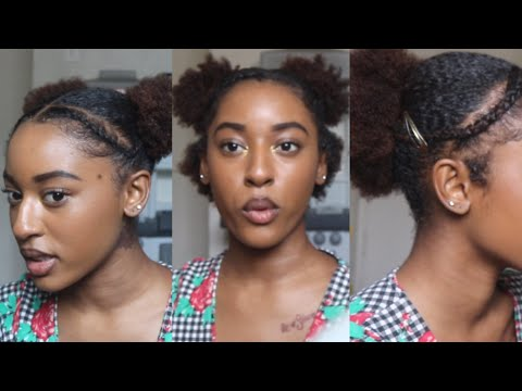 3-cute-&-simple-hairstyles-for-short-natural-hair!