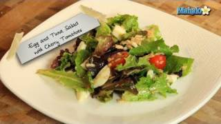 How To Make Egg And Tuna Salad With Cherry Tomatoes