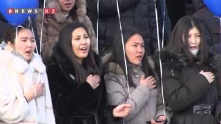 Грандиозным флешмобом отметили День первого Президента в КазГЮУ