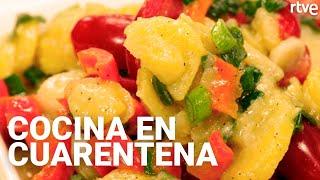 PATATAS A LA VINAGRETA CON PIMIENTOS | Cocina en cuarentena con Sergio Fernández