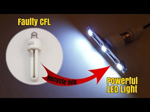 How to Convert Scrap CFL Bulb into Bright LED Light