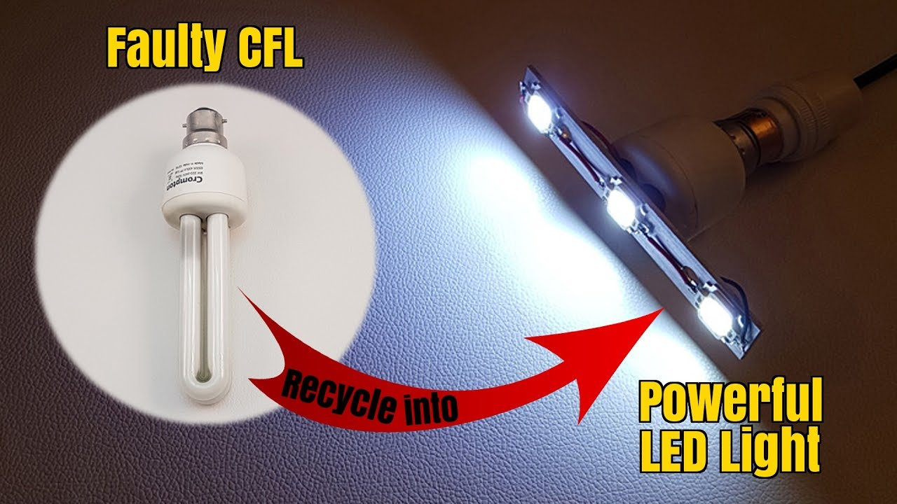 Led Lamp From Scrap