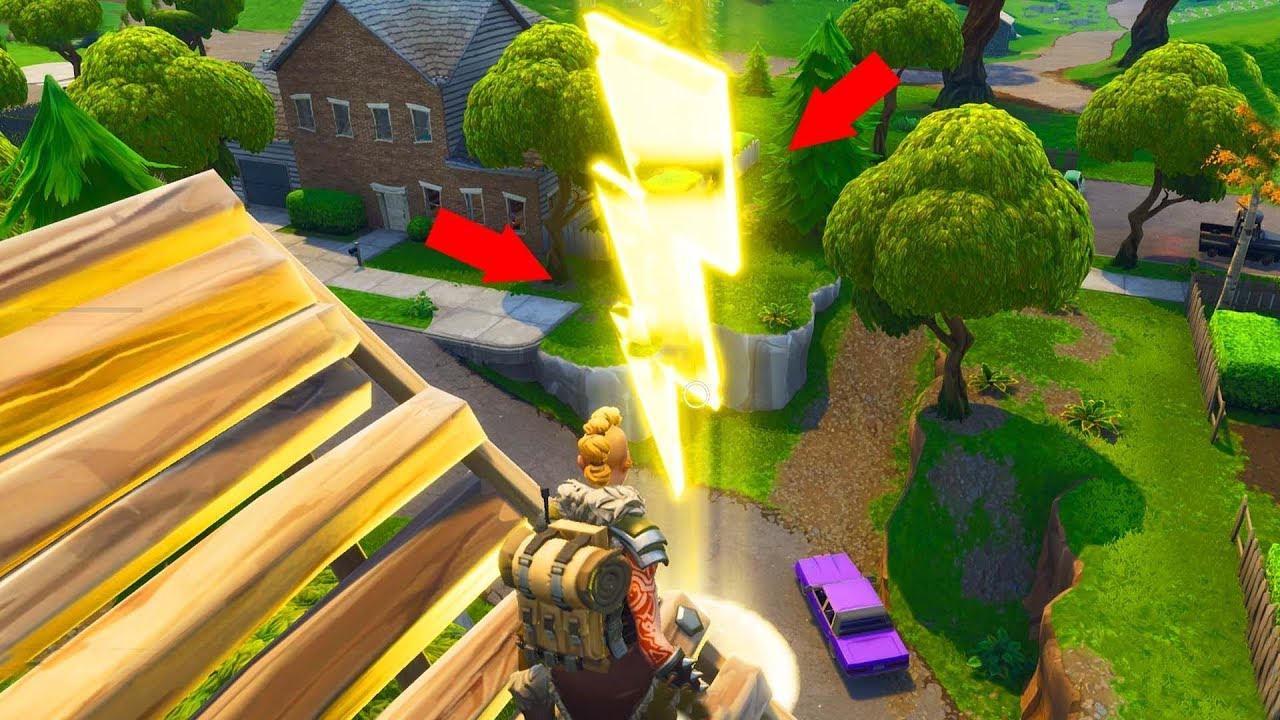 fortnite lightning bolts