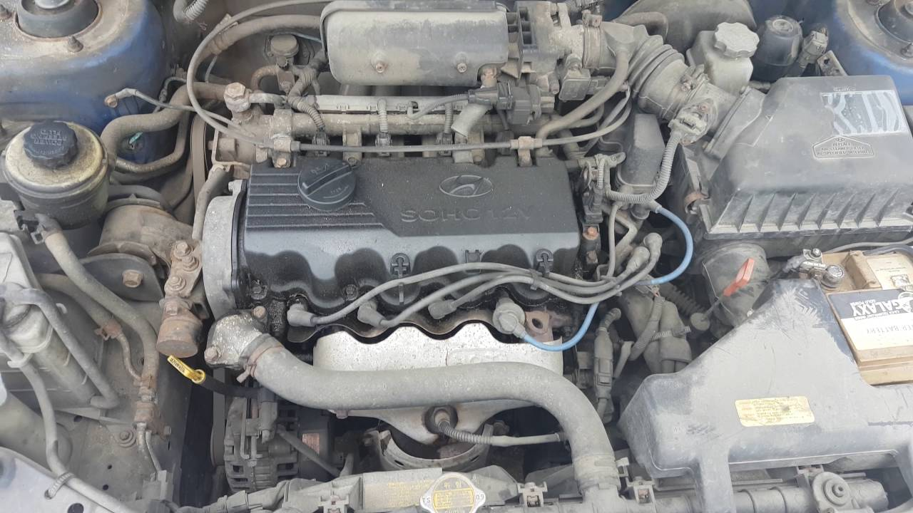 Engine - Car recycler parts Hyundai Accent, 2002 1.5 66kW Gasoline ...