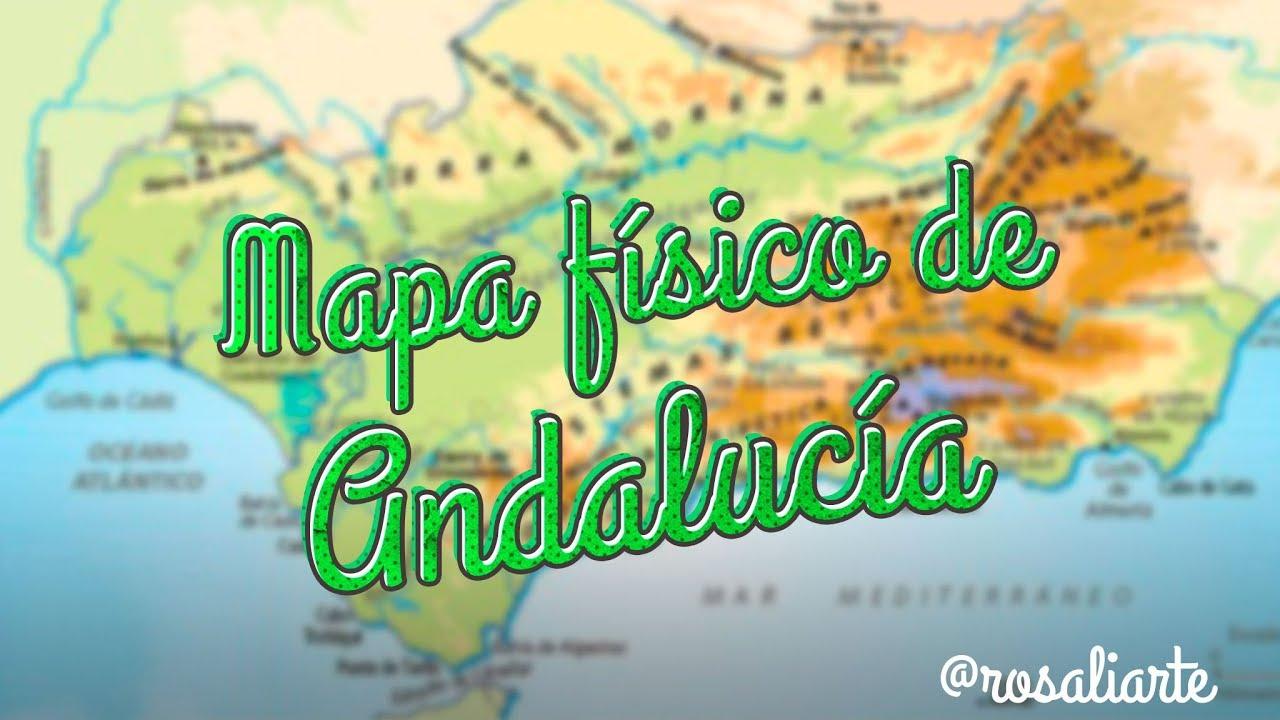 Mapa Rios De Andalucia.Mapa Fisico De Andalucia 1º Eso Youtube