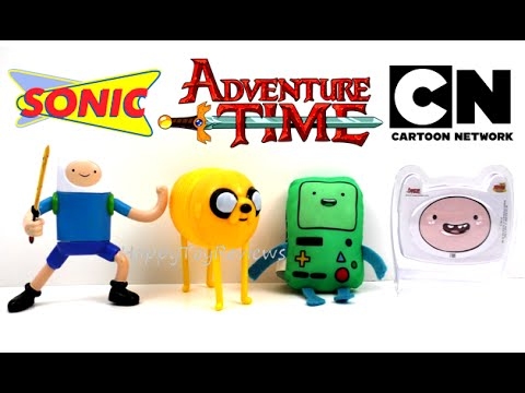 2016 Adventure Time Sonic Drive In Cartoon Network Set 4 Kids Meal