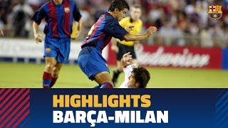 The last time Barça and Milan squared off in the United States