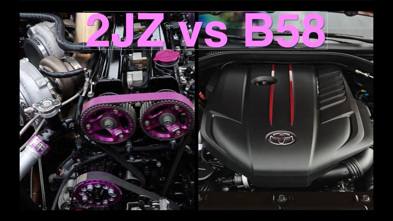 2JZ vs B58 2020 Supra engine comparison - YouTube