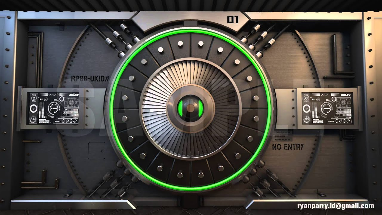 How To Frame A Door Opening Sci Fi Vault 3d Animation Youtube