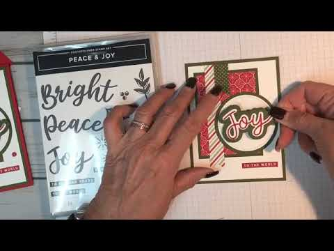 Sharing tips on using the new Foam/Adhesive sheets with the Peace & Joy Bundle!