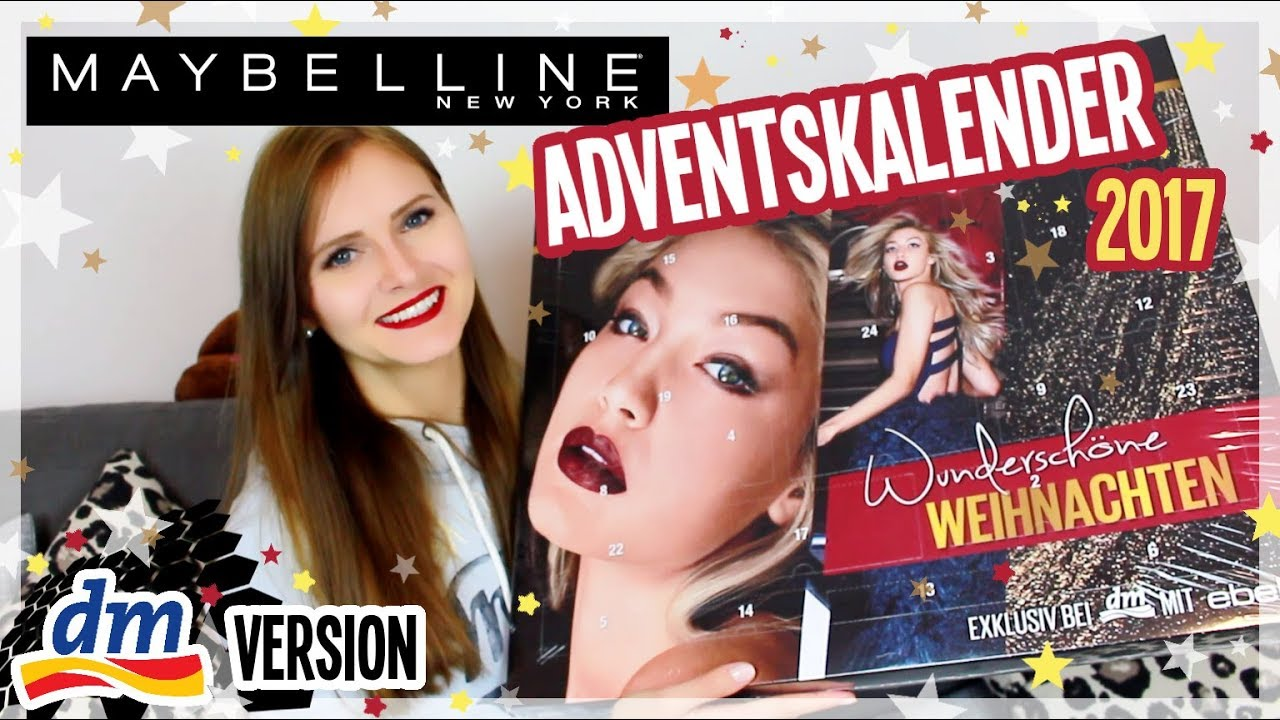 maybelline adventskalender 2017 von dm unboxing youtube. Black Bedroom Furniture Sets. Home Design Ideas