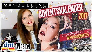 Maybelline Adventskalender 2017 von DM! - UNBOXING