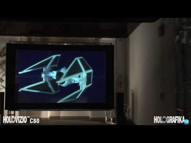 The world's first 3D glasses-free cinema: HoloVizio C80 - HD