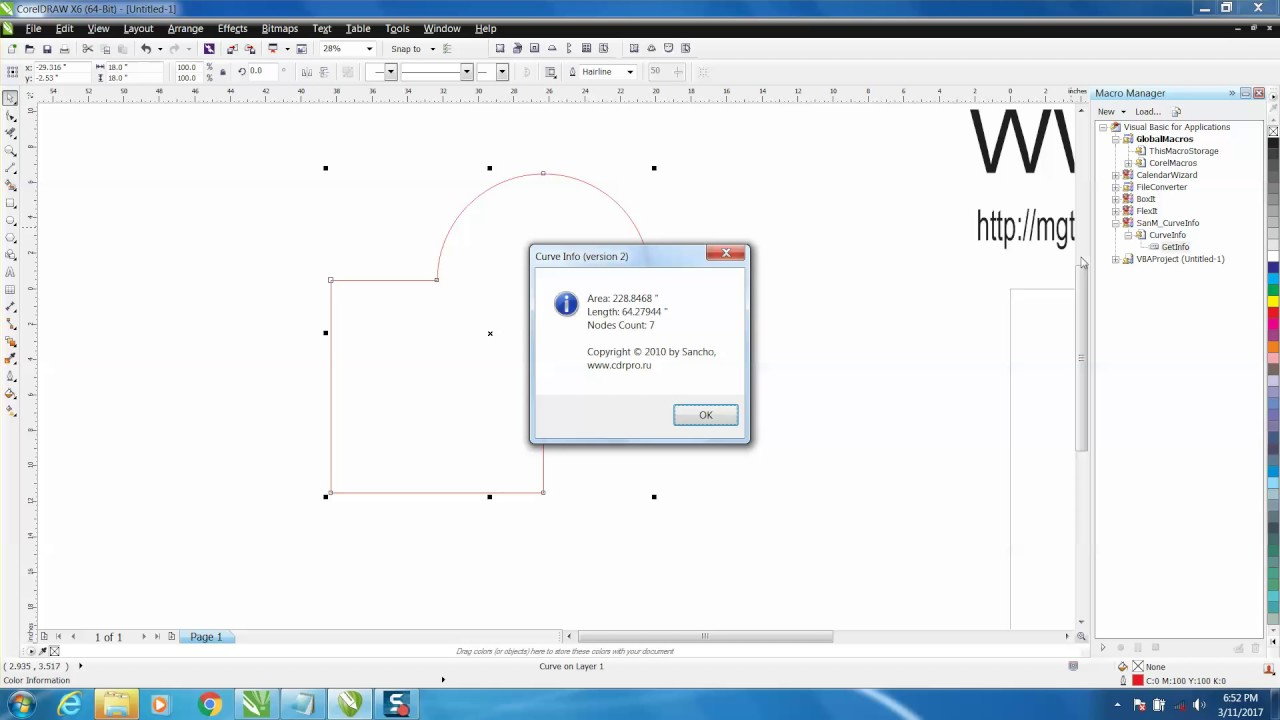Drawing Lines In Coreldraw : Corel draw tips tricks how find the length of a curved