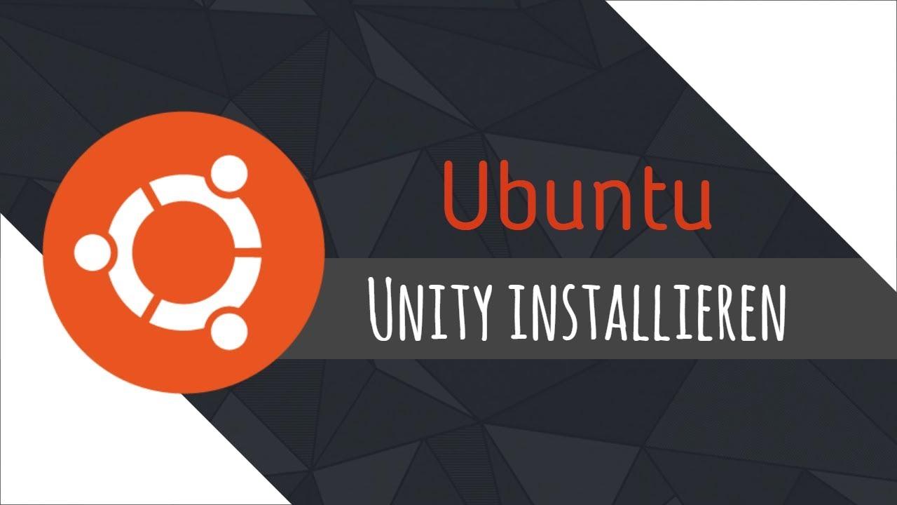 Unity Installieren