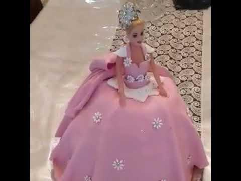 Barbi tortu. Barbi tortunun hazirlanmasi asan usulla-Barbie cake .Barbi pasta tarifi