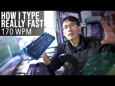 How I type so fast... (170+ Words Per Minute, ex-Google programmer)