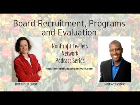 Podcast NLN1: Board Recruitment, Programs and Evaluation with Arto Woodley