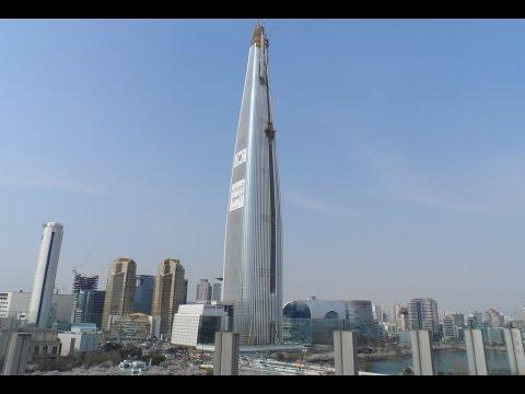 Lotte World Tower (555m) - Korea's Tallest Building - April 2016 Update