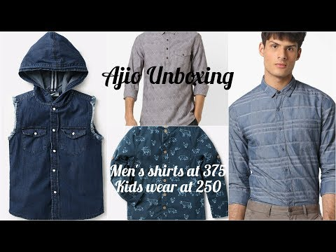 Ajio Online Shopping Unboxing: Trendy Men And Kids Wear At Rs 260