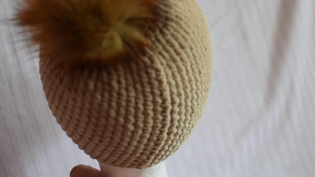 c730203d4 Háčkovaná zimná čiapka - YouTube