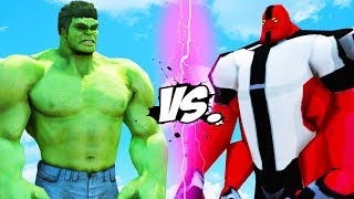 HULK VS FOUR ARMS (BEN 10) - EPIC BATTLE