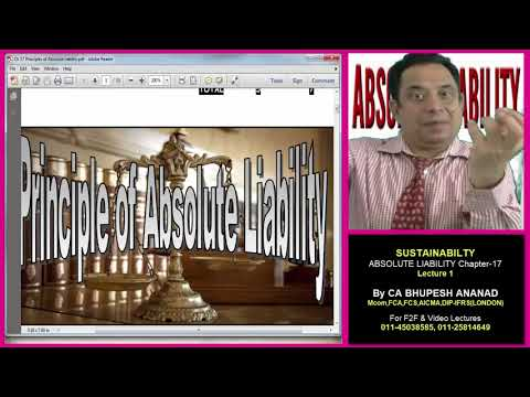 ABSOLUTE LIABILTY CH 17 LEC 1 part 1 CA / CMA /CS /B.Com /MBA/ BBA