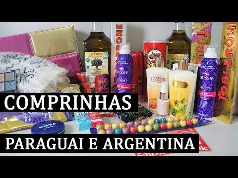 COMPRINHAS NO PARAGUAI E DUTY FREE DA ARGENTINA - COM VALORES