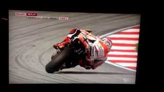 Marc Marquez @118mph sideways ,turn 3 ,segang